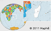 Blank Location Map of Madagascar, political outside