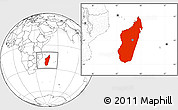 Blank Location Map of Madagascar