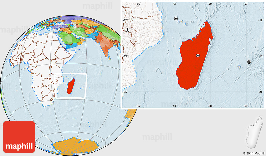 Political location map of madagascar highlighted continent 2d gumiabroncs Gallery