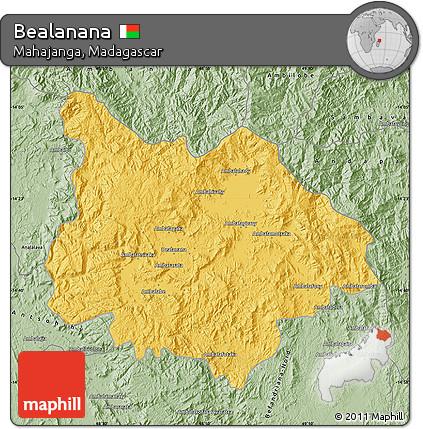 Free Savanna Style Map of Bealanana