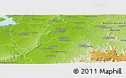Physical Panoramic Map of Boriziny (Port-Berg.)
