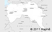 Silver Style Simple Map of Boriziny (Port-Berg.)