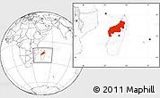 Blank Location Map of Mahajanga, within the entire country