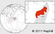 Blank Location Map of Mahajanga, highlighted country