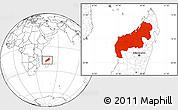 Blank Location Map of Mahajanga