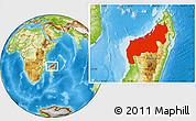 Physical Location Map of Mahajanga