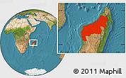 Satellite Location Map of Mahajanga