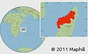 Savanna Style Location Map of Mahajanga
