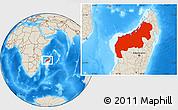 Shaded Relief Location Map of Mahajanga