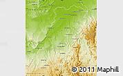 Physical Map of Maevatanana