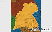 Political Map of Maevatanana, darken