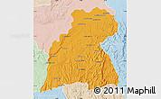 Political Map of Maevatanana, lighten