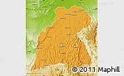 Political Map of Maevatanana, physical outside