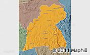 Political Map of Maevatanana, semi-desaturated