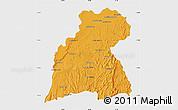 Political Map of Maevatanana, single color outside