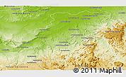Physical Panoramic Map of Maevatanana