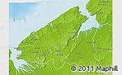 Physical 3D Map of Mahajanga Rural