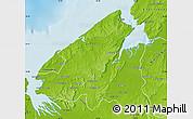Physical Map of Mahajanga Rural