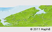 Physical Panoramic Map of Mahajanga Rural