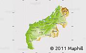 Physical Map of Mahajanga, cropped outside