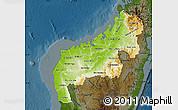 Physical Map of Mahajanga, darken