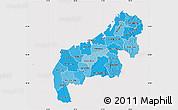Political Shades Map of Mahajanga, cropped outside