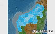 Political Shades Map of Mahajanga, darken