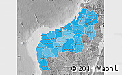 Political Shades Map of Mahajanga, desaturated