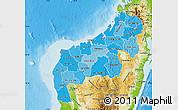 Political Shades Map of Mahajanga, physical outside