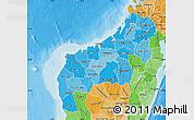 Political Shades Map of Mahajanga