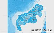Political Shades Map of Mahajanga, single color outside