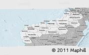 Gray Panoramic Map of Mahajanga