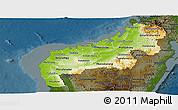 Physical Panoramic Map of Mahajanga, darken