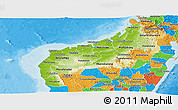 Physical Panoramic Map of Mahajanga, political outside