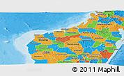 Political Panoramic Map of Mahajanga