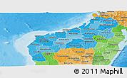 Political Shades Panoramic Map of Mahajanga
