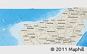 Shaded Relief Panoramic Map of Mahajanga