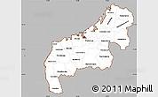 Gray Simple Map of Mahajanga, cropped outside