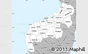 Gray Simple Map of Mahajanga