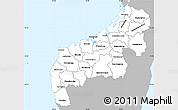 Gray Simple Map of Mahajanga, single color outside