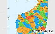 Political Simple Map of Mahajanga