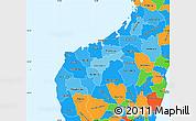 Political Shades Simple Map of Mahajanga, political outside