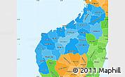 Political Shades Simple Map of Mahajanga