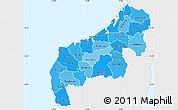 Political Shades Simple Map of Mahajanga, single color outside