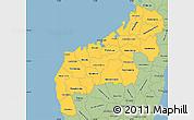 Savanna Style Simple Map of Mahajanga