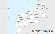 Silver Style Simple Map of Mahajanga, single color outside
