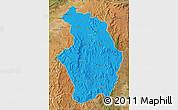 Political Map of Tsaratanana, satellite outside