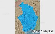 Political Map of Tsaratanana, semi-desaturated