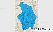 Political Map of Tsaratanana, shaded relief outside