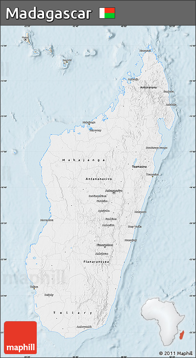Classic Style Map of Madagascar